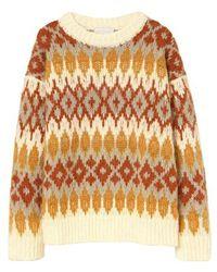 Momoní Rouen Sweater In Jacquard Alpaca - Multicolour
