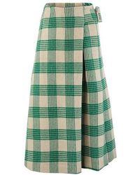 Rejina Pyo Ellis Wool Mix Skirt - Green