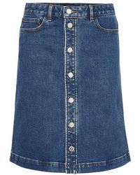 A.P.C. Therese Skirt - Blue