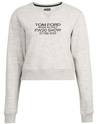 Tom Ford Cropped Sweat - Grey