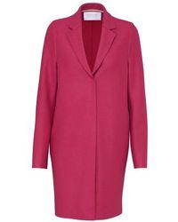 Harris Wharf London Cocoon Wool Coat - Red
