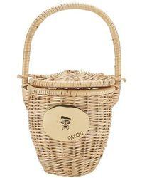 Patou Wicker Basket Bag - Natural