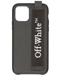 Off-White c/o Virgil Abloh Coque portable à logo - iPhone 11 Pro - Noir