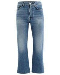 Balenciaga Jeans Cropped - Bleu