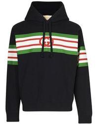 Gucci Logo Hoodie - Black