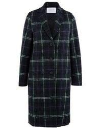 Harris Wharf London Felted Wool Coat - Green