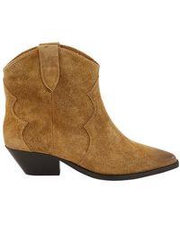 Isabel Marant Boots Used Look Velvet - Natur