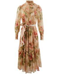 Zimmermann Espionage Silk Dress - Multicolour