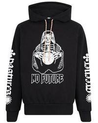 Aries Sweatshirt à capuche No Future - Noir