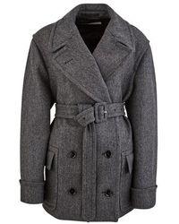 Dries Van Noten Woollen Coat - Grey