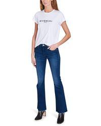 Givenchy T-shirt En Jersey De Coton Imprimé - Blanc