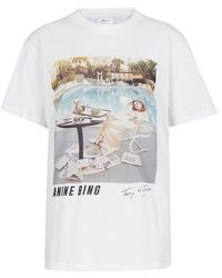 Anine Bing T-shirt Lili AB x To Faya Dunaway - Blanc
