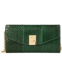 Celine C Wallet On Chain In Watersnake - Green