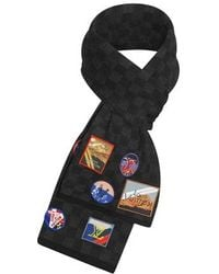 Louis Vuitton Lv Alpes Petit Damier Scarf - Black