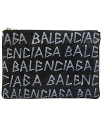 Balenciaga - -Leder-Aktentasche Graffiti - Lyst