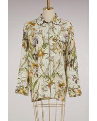 Alexander McQueen - Printed Silk Pyjama Top - Lyst