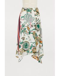 Tory Burch - Floral Print Flared Skirt - Lyst