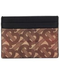 Burberry Sandon Leather Card Holder - Multicolour
