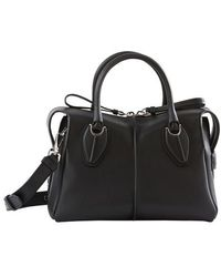 Tod's Small D Styling Bauletto Handbag - Black
