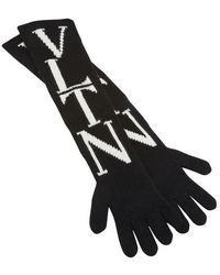 Valentino Valentino Garavani Vltn Gloves - Black