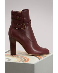 Jimmy Choo - Mitchel 100 Leather Ankle Boots - Lyst