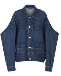Balenciaga Veste en jeans Upside Down - Bleu