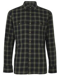 Tom Ford Faded Dark Check Shirt - Multicolor