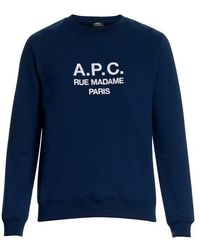 A.P.C. Rufus Embroidered Sweat - Blue