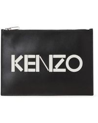 KENZO Logo Clutch - Black