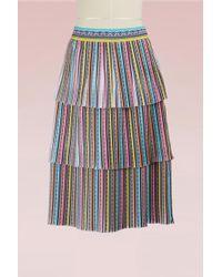 Mary Katrantzou - Baccararat Crepe Pleated Midi Skirt - Lyst