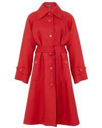 Dolce & Gabbana Manteau à ceinture - Rouge