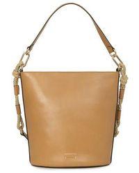 Vanessa Bruno Calfskin Leather Holly Bucket Bag - Brown