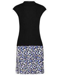 Louis Vuitton Sleeveless Bi-material Knit Dress - Black