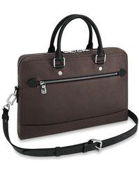 Louis Vuitton Canyon Briefcase - Black