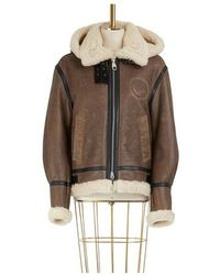 Chloé Shearling Bomber Jacket - Brown