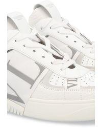 Valentino Sneakers Vltn Aus Kalbsleder Mit Bändern - Grau