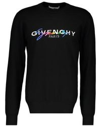 Givenchy Logo Embroidered Sweatshirt - Black