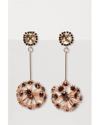 Erdem - - Crystal Embellished Floral Drop Earrings - Womens - Burgundy - Lyst
