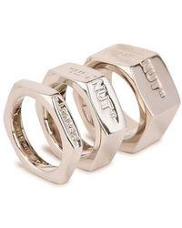 Off-White c/o Virgil Abloh Bolt Ring - Metallic