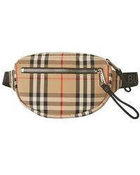 Burberry Cannon Buv Belt Bag - Natural
