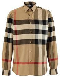 Burberry Oversized Check Shirt - Multicolour