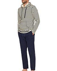 Orlebar Brown Blaine Deck Stripe Stripe Overhead Hooded Sweatshirt - Multicolour