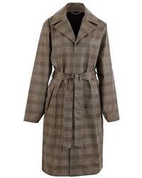 Rains Le Check Overcoat - Neutre