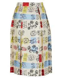 Marni - Midi Skirt - Lyst