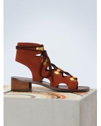See By Chloé   Edna Flat Sandals   Lyst