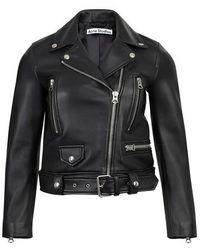 Acne Studios Leather Jacket - Black