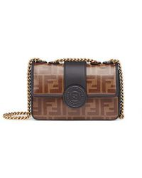 Fendi Mini Double F - Brown