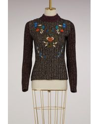 RED Valentino - Flowers Embroidered Sweater - Lyst