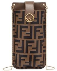 Fendi Phone Pouch - Brown