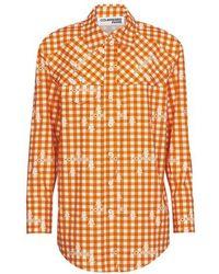 Courreges Cotton Shirt - Orange